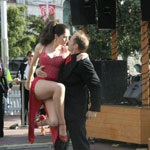 Dance Pasion and musicians 4XTango perform together in Aotea Square