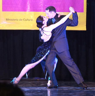 Dancing in the Semi-Finals in the World Stage Tango Championship, Buenos Aires